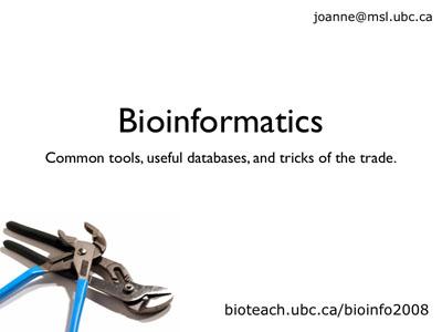 Bioinformatics Workshop Day 1